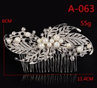 sparkle brushes - Bridal Wedding Tiaras With Crystal Rhinestones Pearls Hair Comb For Women Girls Hair Brush Sparkle Bride Accessories