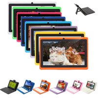 "Wholesale Tablets Webcam Sale - ON SALE! iRULU 7 Inch A33 Quadcore Q88 1024*600 HD Capacitive Screen 8GB Tablet PC Wifi Dual Cameras With 7"" Leather Keyboard case"
