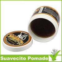 Wholesale Water Soluble Wax - Brand New Suavecito Pomade Firme Hold   Water Soluble Hair Slicked Back Hair Oil Wax Mud Skeleton Hair Wax drop shipping Suavectito WAX
