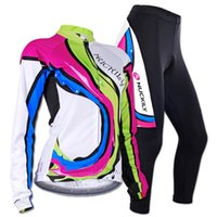Wholesale Nuckily Cycling - Wholesale-2015 NUCKILY Women's Autumn and Winter 3D Padded Pants Long sleeve Bicycle Wear Clothing Women Cycling Jersey sets