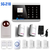Wholesale Gsm Wireless Security System Touch - APP Control Wireless Intelligent touch button TFT color display GSM + PSTN GSM system ALARME wireless home security SG- 218
