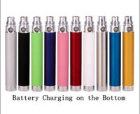 Wholesale Ego Usb Passthrough Charger - EGO Passthrough Battery 650mah 900mah 1100mah Electronic Cigarette Bottom Charger Batteries with USB Charger Cable 510 thread for all E Cig