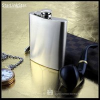 Wholesale Stainless Steel Whisky Bottle - Stainless Steel Hip Flask Personalized Flagon High Quality Portable Wine Whisky Pot Bottle Drinkware For Drinker
