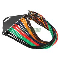 Wholesale Nylon Eyewear Holder - 12pcs Colorful Eyewear Nylon Cord Reading Glass Neck Strap Eyeglass Holder Cord Glasses Strap Eyewear Accessories E#CH