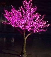 ingrosso alberi artificiali all'aperto illuminati-Artificiale lampada albero ciliegio 2m alta 1536pcs LED casa giardino simulazione albero luce decorazione esterna albero lampada Natale decorazione di nozze