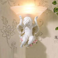 Wholesale Cupid Light - home Cupid wall lamps modern wall light for bedroom contemporary hotel sconce living room lights mounted decorative wall lights bedroom