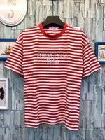 Wholesale Puff Shorts - 2017ss ASAP Rocky brand new striped men casual short sleeved t-shirts women Embroidery fashion tees tops tshirts tee shirts lovers t-shirts