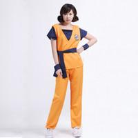 Wholesale Shirt Halloween Adult - Dragonball Dragon Ball Z Adult Son Goku Master Roshi Logo Shirts Pants Jacket Cosplay Costume Halloween Kongfu Suit Outfit