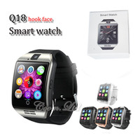 Wholesale Meter Phone - Q18 smart watches for android phones Bluetooth Smartwatch with Camera Support Health Smart watches Tf sim Card Slot Bluetooth with package