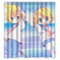 Wholesale Kagamine Len Cute - Hot Selling Custom Polyester Shower Curtain Waterproof Print Cute Cartoon Character Kagamine Rin Len Size 66x72 Inch With Hooks
