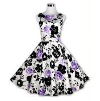 Wholesale Pinup Floral Dress - 50s Vintage Dresses Audrey Hepburn 2016 Women Summer Style Vestido Floral Print 60s Pinup Retro Vintage Rockabilly 50s Dress