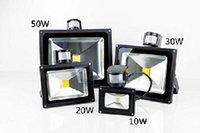 Wholesale High Power Led Pir Flood - pir LED flood lamp 10W 20W 85~265V 30W high power industrial lighting street Cool White Factory direct sale 50W ip65