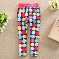 Wholesale Thick Blue Pink Leggings - New 2016 Autumn Winter Baby Girls Leggings Kids Vintage Floral Plus Velvet Thick Legging Children's Casual warm Trousers 2 Colo