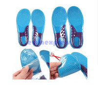 . sports insoles - Men Women Silicone Gel Orthotic Arch Support Massage Sport Shoe Insoles Run Pad Shockproof Brand New And High Quality