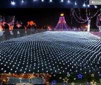 1,5 led light achat en gros de-1.5 * 1.5 m 96 Led 6flash modes 110v-220V chaîne lumineuse super nette lumière de Noël lumières Nouvel an cérémonie de mariage livraison gratuite