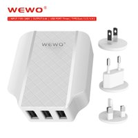 Wholesale Eu Uk Travel - WEWO 5V 3.4A Fast Charge Powerbanks USB Travel Charger Plug US EU UK Standard Wall Moblie Phone adapter for iPhone 5 5s 6 ipad Samsung