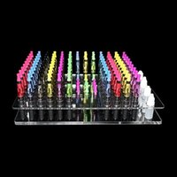 Wholesale E Cig 134 - Acrylic e cig display clear standing shelf holder rack for vapor itaste 134 ecig ego t q k battery ce4 atomizer electronic cigarette DHL