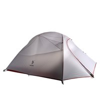 Wholesale professional construction - Wholesale- Professional Ultralight 3 Person 20D Silicon Coated Nylon 4 Season Aluminum Rod Hiking Travel Fishing Beach Outdoor Camping Tent
