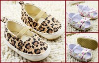 Wholesale Cheap Toddler Flower Girl Shoes - Leopard grain cheap girls toddler shoes 2016 flower beautiful bowknot baby soft bottom sandals summer kids indoor shoes 12pair 24pcs B