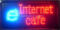 "Wholesale Neon Sign Internet - Free shipping high quality hot selling customerized Animated LED internet cafe SIGN BOARD 19x10"" Led Neon sign lighted advertising signs"