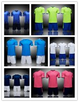Wholesale uniform apparel - custom soccer jerseys,Team blank shorts and team apparel Training Running Soccer Wears,mens custom Short sleeve Tops With Shorts uniform