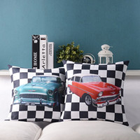 black leather sofa decorating - Classic car Lattice Leather Cashmere Cushion Pillow Sofa Cushion Pillowcase Decorate Pillows