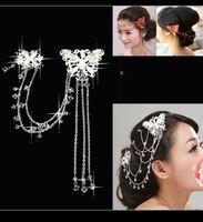Wholesale Cheap Bling Hair - Korean Style Weddding Hair Accessory 2015 Summer Beach Garden Bling Crystal Headpiece Bride Crown Headband Bridal Jewelry Fascinators Cheap