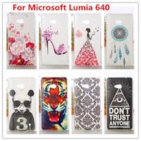Wholesale Lumia Bling - Wholesale-For Microsoft Lumia 640 Case  Luxury Crystal Diamond 3D Bling Hard Plastic Cover Case For Nokia Microsoft Lumia 640 Phone Cases