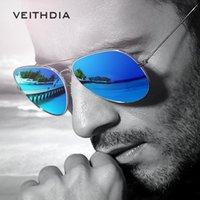 ingrosso occhiali da sole obiettivo polarizzato riflettente-VEITHDIA Brand Fashion Polarized Sunglasses Uomo Donna Colourful Reflective Coating Lens Eyewear and Accessories Occhiali da sole 3026
