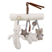 Wholesale Mobile Hanging Teddy Bear - Highquality1pcs Bed Bells Developmental Toy,hanging toy baby rattle toy soft plush rabbit musical mobile products baby Xmas gift