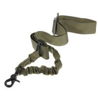 taktik tek noktalı silah sling toptan satış-Taktik 1 Tek Tüfek Gun Sling Sistemi için Tek Nokta Ayarlanabilir Bungee Askı