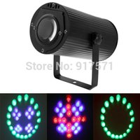 Gros-AC 110-220V EUUS plug New RGB 3W cristal Magic Ball Laser Stage éclairage Pour le Parti Disco Bar DJ ampoule d'éclairage Afficher Sound Control