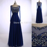 Scoop 2015 Long Elegant Evening Dress Линия Cap Sleeves Two Full Long Sleeves Floor Length With Sequin Long Evening Gowns