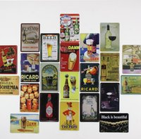 Wholesale movie tin signs wholesale - 30*20 cm Beer Wine Vintage Metal Painting Tin Sign Bar Pub Home Wall Retro Mural Poster Home Decor Craft