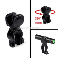 360 Swivel Noir Bicycle Bike Mount Bracket Clip Holder Torch Clamp Universal Pour LED Bicycle Flashlight Free Ship