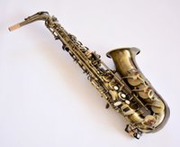 Wholesale Copper Alto Saxophone - French Selmer   54   E-flat alto saxophone musical instrument antique copper Professional