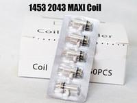 mechas bobina clearomizer al por mayor-1453 2043 maxi Coi Atomizer justfog Coil Core Head Wicks traje de núcleo reemplazable de la bobina para 1453 2043 MAXI Clearomizer