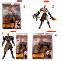 Wholesale Neca God War Kratos - 2015 NECA GOD OF WAR KRATOS Medusa Head 7' ACTION FIGURE 4pcs frozen