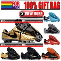 Cheap Original Low Tobillo New Soccer Shoes Soft Spikes Tiempo Roma X FG Fútbol Botas Cuero Tiempo Legend VII FG Soccer Cleats Gold Black