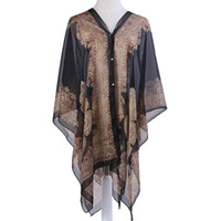 Wholesale Stripes Swimsuit Ladies - fashion Women Floral Summer Sunscreen Scarf Shawl Brand Lady Paisley Cape Beach Poncho Bikini Swimsuit Wrap scarves