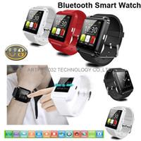 iphone 4s telefonlar toptan satış-U8 bluetooth smart watch u saatler dokunmatik bilek kol smartwatch iphone 4 4 s 5 5 s samsung s4 s5 için not 3 htc android telefon akıllı telefonlar