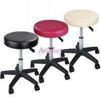 Wholesale Fast Chairs - Hydraulic Adjustable Tattoo Salon Rolling Stool Chair Massage Spa Swivel Opt Top Quality Free Fast Shipping