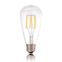 Wholesale Globe Industrial - ST64 4W 6W 2200k CRI>80 Dimmable Edison Tungsten Filament Vintage Antique Industrial LED Bulb Light110V 220V