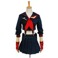 Wholesale Japanese Cosplay Costumes For Women - Japanese Anime KILL La KILL Ryuko Matoi Cosplay Costumes Party Dress For Women Girls