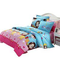 Wholesale Quilt Cover Double Size - Wholesale-Cotton Printing Double Queen King Size Quilt Pillowcase Duvet Cover 10 Color New Bedding Set Hot Sale