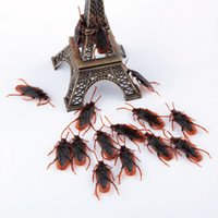 Wholesale Funny Tricky Jokes - Prettybaby April fools' day tricky toys simulation Cockroaches realistic funny prank joking fake blackbeetle toys Pt0206#