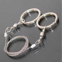 Wholesale Carbon Steel Wire - 20 pieces Hiking Camping Stainless Steel Wire Saw Emergency Travel Survival Gear