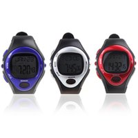 Wholesale Heart Rate Monitors Calorie Counter - Men Women Dress Watches Pulse Heart Rate Monitor Calorie Counter Fitness Sport Exercise Wrist Watch Blue Red Silver Wristwatches order<$18no