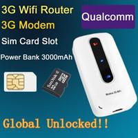 Wholesale Huawei Wifi Modems - 3G 4G Mifi  Wifi Wireless Routers Modem wIth SIM Slot Unlocked Hotspot 3000mAh Portable Charge Power Bank PK Huawei E5331