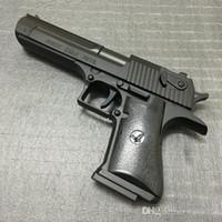 Wholesale Revolver Lighter - Large Metal Desert Eagle Beretta Pistol Lighter M92F Simulation Model Lighter Metal Revolver Type Gun Lighter